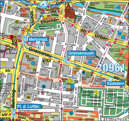 UBahnhof Gneisenaustraße Berlin, 10961 Berlin  Kreuzberg