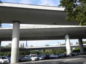 ehemalige A104 an der Rudolstädter Straße (2014) A104 Autobahn, Autobahnteilstück der A100