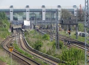 S-Bahnhof Ostkreuz (2012) S-Bahn Ostkreuz, Berlin-Friedrichshain, Rummelsburger Bucht, Osthafen