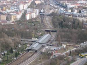 Vom Funkturm aus gesehen (2008) S-Bahnhof Westkreuz, Berlin-Charlottenburg,