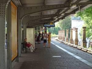 S-Bahnhof Wollankstraße (2017) S-Bahnhof Wollankstraße, Berlin-Pankow, Bürgerpark, Uferweg an der Panke