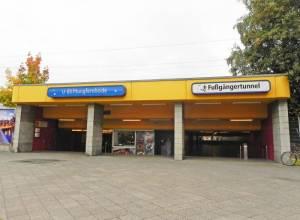 U-Bahnhof Jungfernheide und Fußgängertunnel. (2014) U-Bahnhof Jungfernheide, Berlin-Charlottenburg, Schlosspark Charlottenburg, Spree, Landgericht