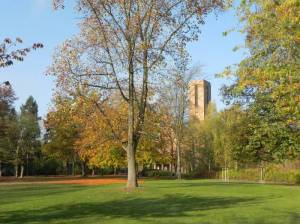 Thielpark (2012) Thielpark, Berlin-Dahlem, Freie Universität, Triestpark, Jesus-Christus-Kirche