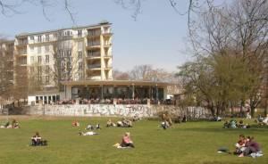 Volkspark am Weinberg (2009) Volkspark am Weinberg, Berlin-Mitte, Heinrich-Heine-Denkmal, Spielplatz, Teich