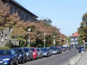 Bacharacher Straße, Berlin-Tempelhof, Baudenkmal Bärensiedlung, Tempelhofer Freiheit