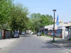 Haasestraße, Berlin-Friedrichshain, Friedrichshainer Kneipszene, Modersohnbrücke, RAW-Gelände