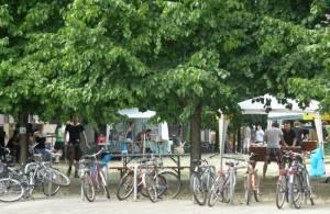 Vielseitig genutzter Platz (2010) Hegelplatz, Berlin-Mitte,