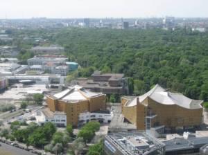 Herbert-von-Karajan-Straße, Berlin-Tiergarten, Kulturforum, Staatsbibliothek, Philharmonie, Neue Nationalgalerie, Großer Tiergarten
