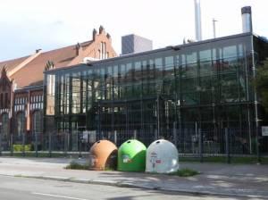 Hohenzollerndamm, ehemaliges Pumpwerk (2012) Hohenzollerndamm, Berlin-Wilmersdorf, Kirche am Hohenzollerndamm, Hohenzollernplatz, Preußenpark, Fehrbelliner Platz
