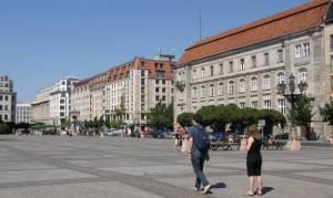 Markgrafenstraße, Berlin-Mitte, Gendarmenmarkt, Deutscher Dom, Französischer Dom, Schauspielhaus