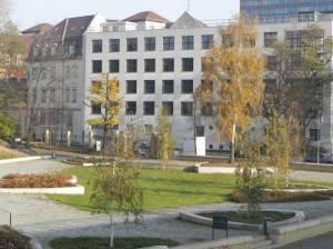 Möckernstraße, Amtsgericht Tempelhof-Kreuzberg (2011) Möckernstraße, Berlin-Kreuzberg, Park am Gleisdreieck, Tempodrom, Amtsgericht Kreuzberg