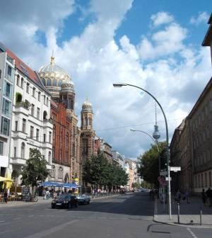 Oranienburger Straße, Berlin-Mitte, Neue Synagoge, Monbijoupark, Krausnickpark, Heckmannhöfe