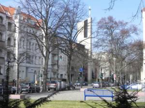 Rubensstraße, St. Konrad-Kirche (2013) Rubensstraße, Berlin-Schöneberg, Zwischen A103 und der Thorwaldsenstraße