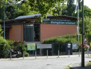 Ruhwaldweg, Vereinshaus (2013) Ruhwaldweg, Berlin-Westend, Park Ruhwald, Kleingärten, Bezirksverband der Kleingärtner