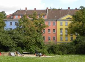 Alarichplatz, Berlin-Tempelhof, Teltowkanal, UFA-Gelände, Tempelhofer Hafen