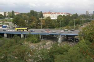 Kolonnenbrücke (2009) Kolonnenbrücke, Berlin-Schöneberg, Schwerbelastungskörper, Geschichtsparcours