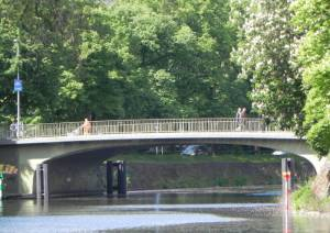 Bendlerbrücke (2014) Bendlerbrücke, Berlin-Tiergarten, Landwehrkanal, Bendlerblock, Shell-Haus