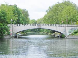 Lohmühlenbrücke, Berlin-Neukölln, Neuköllner Schifffahrtskanal, Landwehrkanal