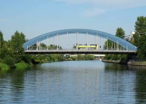 Mörschbrücke (2016) Mörschbrücke, Charlottenburg-Nord, Westhafenkanal, Spree