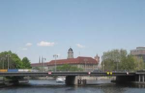 Jannowitzbrücke (2008) Jannowitzbrücke, Berlin-Mitte, Spree, Märkisches Museum, Historischer Hafen
