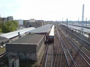 Blick auf Bahnhof- Lichtenberg von Lichtenberger Bruecke S+U Lichtenberg,