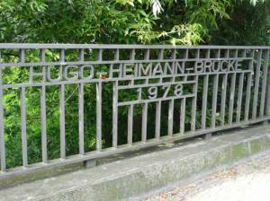 Hugo-Heimann-Brücke (2017) Hugo-Heimann-Brücke,  Berlin-Gesundbrunnen, Panke, Bürgerpark