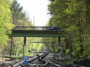 Fischgrundbrücke (2016) Fischgrundbrücke, Berlin-Frohnau, Gartenstadt Frohnau, Friedhof Hermsdorf