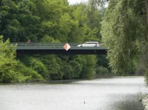 Knesebeckbrücke und Teltowkanal (2014) Knesebeckbrücke, Teltow, Teltowkanal