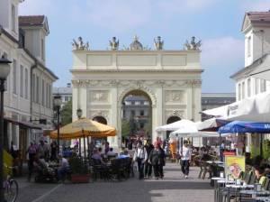 Brandenburger Straße (2011) Brandenburger Straße, Potsdam, Fußgängerzone, Einkaufsquellen und Restaurants