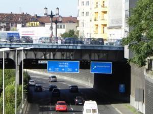 Kaiserdammbrücke, Stadtautobahn, Ringbahn