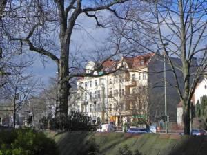 Ostpreußendamm (2014) Ostpreußendamm, Berlin-Lichterfelde, Kraftwerk Lichterfelde, Dorfkirche Giesensdorf