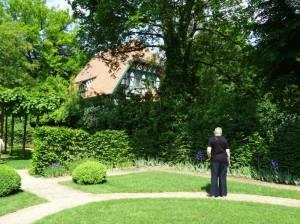 Villa Langenscheidt und Garten der Villa Liebermann (2016) Colomierstraße, Berlin-Wannsee, Villa Liebermann, Großer Wannsee, Villa Langenscheidt