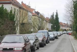Franziusweg (2010) Franziusweg, Berlin-Lichtenrade, Ruhige Wohnstraße mit Reihenhäusern
