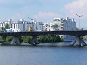 Am Wasserbogen und Wasserstadtbrücke (2014) Am Wasserbogen, Berlin-Spandau, Havel, Maselakekanal, Wasserstadt