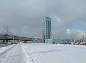 Ernst-Ruska-Ufer und Brücke der A113, 2021 Ernst-Ruska-Ufer, Berlin-Adlershof, Teltowkanal