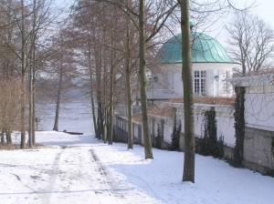 Aussichtspavillon der Villa Lemm Am Ortsrand, Berlin-Gatow,