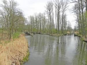 Mittelkanal, Burg (Spreewald), Schleuse Batzlin, Burg-Lübbener Kanal, Großes Fließ