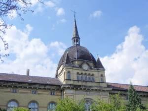 Brebacher Weg, Berlin-Biesdorf, Griesinger-Krankenhaus, Vivantes Klinikum Hellersdorf, Unfallkrankenhaus Marzahn, Wuhlgarten, Krankenhauskirche