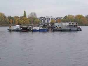 Rummelsburger See (2016) Rummelsburger See, Berlin-Rummelsburg, Hausboote, Alt-Stralau, Zillepromenade, Paul-und-Paula-Ufer