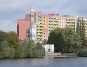 Dampfmaschinenhaus und Neustädter Havelbucht (2011) Dampfmaschinenhaus, Potsdam, Pumpwerk für die Bewässerung des Parks von Sanssouci