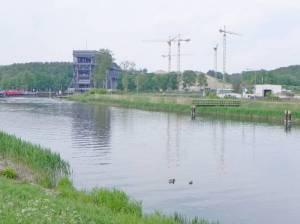 Oder-Havel-Kanal, Schiffshebewerk (2011) Oder-Havel-Kanal, Schiffshebewerk, Lehnitzsee