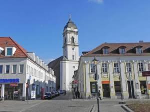 Domstraße und Dom St. Marien (2015) Domstraße, Fürstenwalde, Dom, Altes Rathaus, Markt