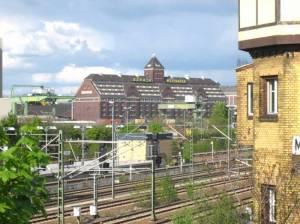 Westhafen (2009) Westhafen, Berlin-Wedding, Berlin-Spandauer Schifffahrtskanal, Kraftwerk Moabit