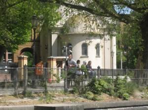 Synagoge am Fraenkelufer (2009) Synagoge Fraenkelufer, Berlin-Kreuzberg, Landwehrkanal, Urbanhafen, Admiralbrücke