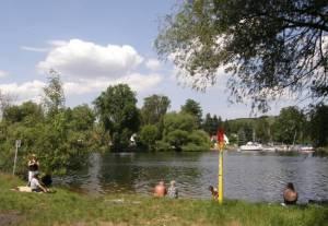 Badestelle am Weißen See, Potsdam-Nedlitz, Weißer See, Sacrow-Paretzer Kanal