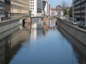 Spreekanal und Jungfernbrücke (2008) Spreekanal, Berlin-Mitte, Märkisches Museum, Historischer Hafen, Museumsinsel, Auswärtiges Amt