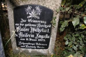 Gedenkstein zur Silberhochzeit Kaiser Wilhelm I (2008) Gedenkstein zur Silberhochzeit, Berlin-Schöneberg,
