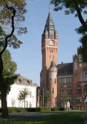 Luisenhain und Rathaus Köpenick (2010) Luisenhain, Berlin-Köpenick, Rathaus Köpenick, Altstadt Köpenick, Dahme, Stadtmodell