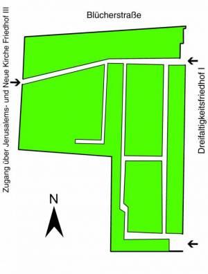 Übersichtsplan Böhmisch- Lutherischer- Bethlehems- Friedhof,