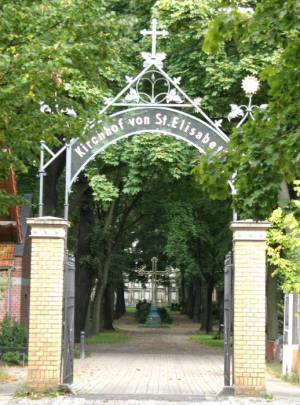 Friedhof der Elisabethgemeinde I (2008) Kirchhof der Elisabethgemeinde I, Berlin-Mitte, Gedenkstätte Berliner Mauer, Kapelle der Versöhnung